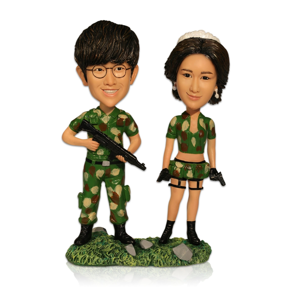 custom army theme lover bobbleheads custom personalized bobblehead