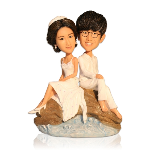 beach wedding bobblehead
