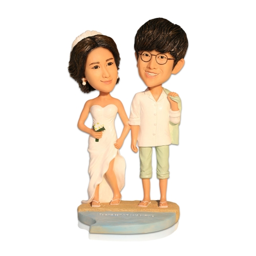 beach wedding themed bobbleheads