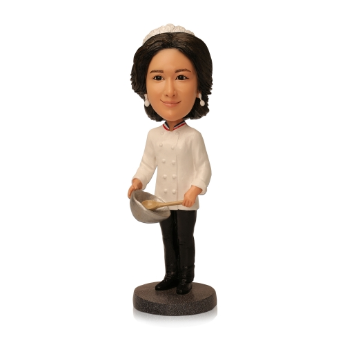 Personalized chef bobblehead