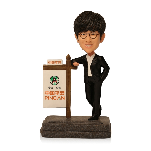 business card bobblehead