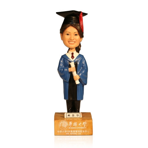 Girl Graduation Bobble Head