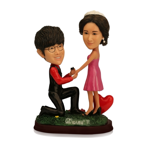 shark couple figurine