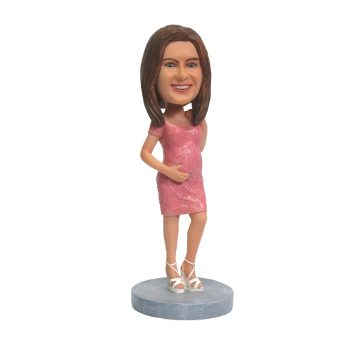 pregnant woman bobble head doll