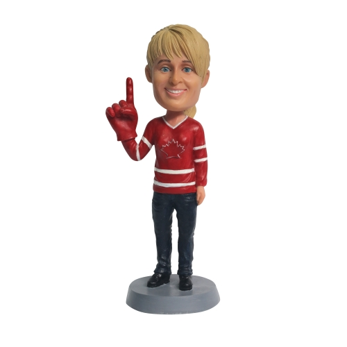 Customized hockey bobblehead