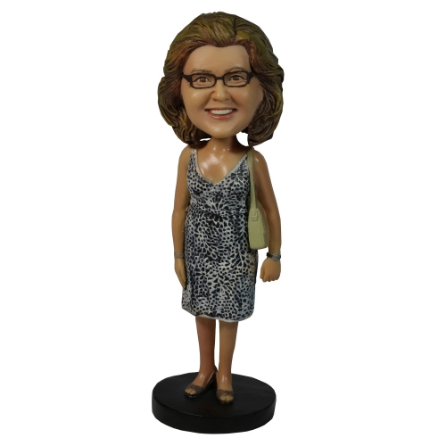 casual woman bobble head