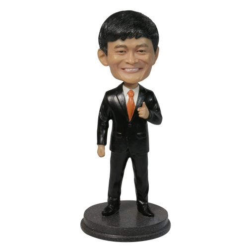 businessman bobble head
