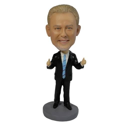 business man bobble head