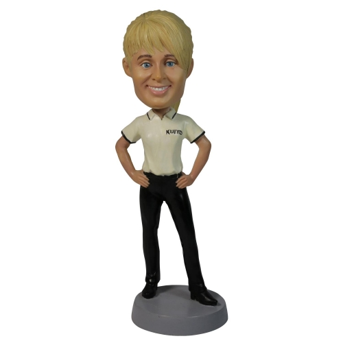 work woman in Tshirt bobble head