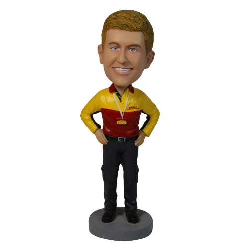 man in company labour suit bobble head
