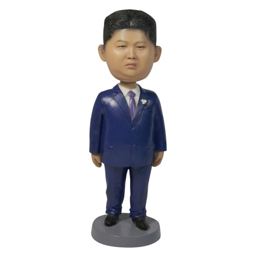 man in blue suit bobble head