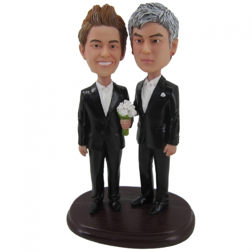 male homosexual wedding bobble head