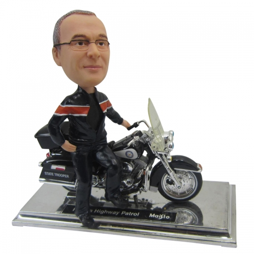 motorcycle bobble head