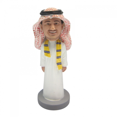 traditional clothing man bobble head