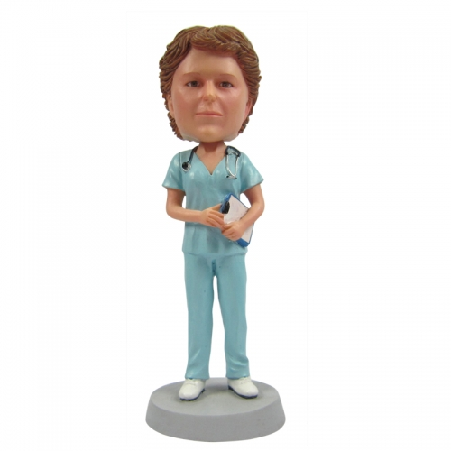 female doctor bobble head
