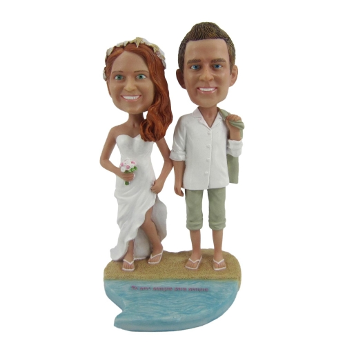 beach wedding bobble head