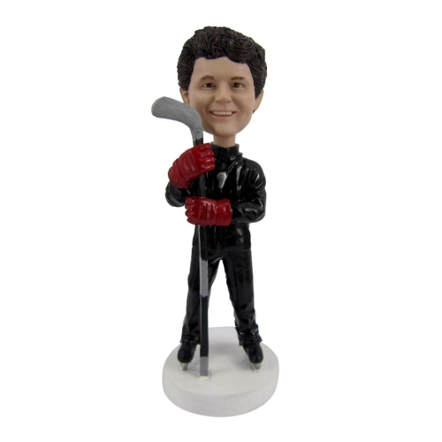 ice hockey coach bobble head