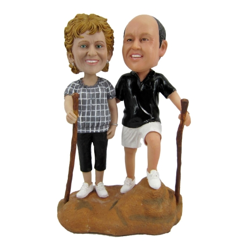 old couple bobbleheads
