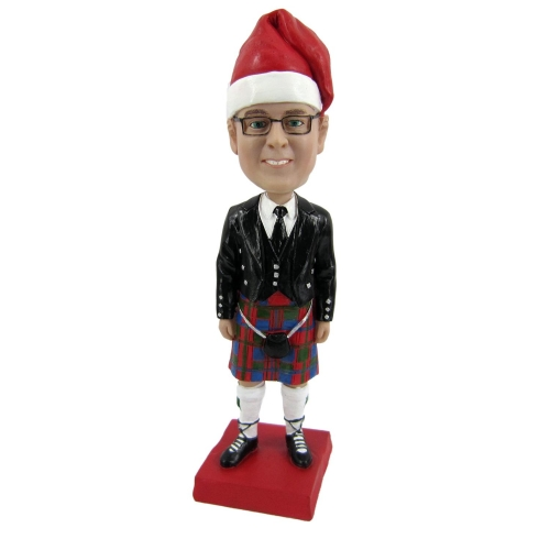 man in scotch kilt bobble head