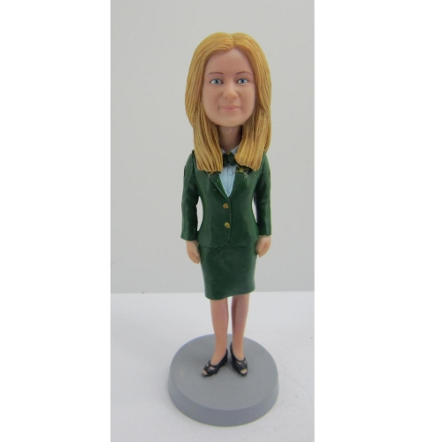 business woman bobble head
