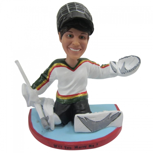 ice hockey goalie bobble head