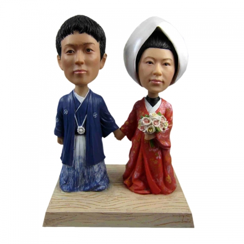Japanese theme wedding bobble head
