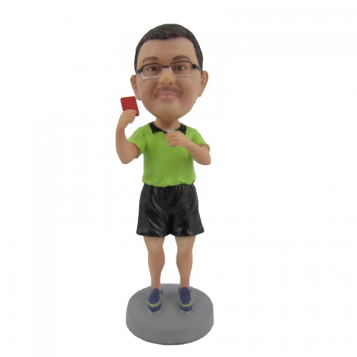 referee bobble head