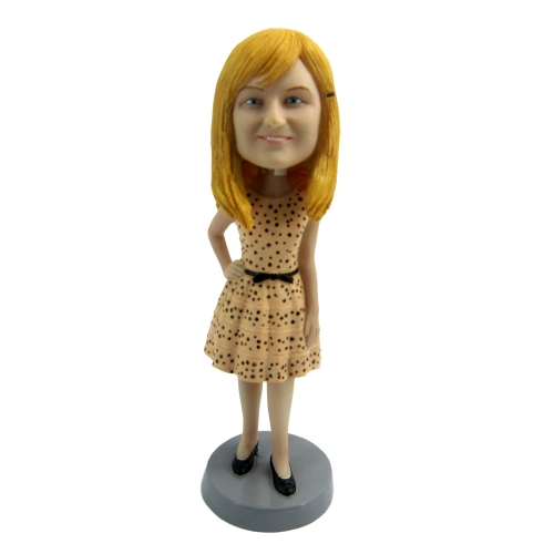 woman in long dress Bobble Head