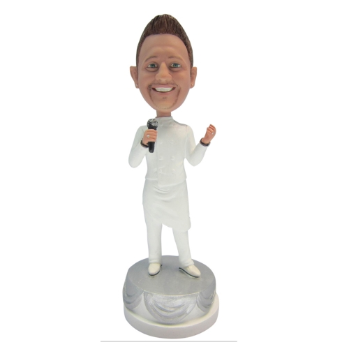 singer man bobble head