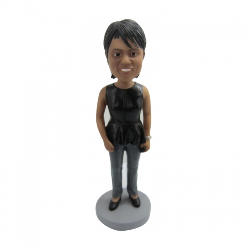 woman bobble head