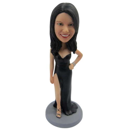Evening dress woman Bobble Head